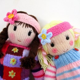 Dolls flowery headband