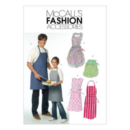 McCall's Misses'/Men's/Children's/Boys'/Girls' Aprons M5551 - Sewing Pattern
