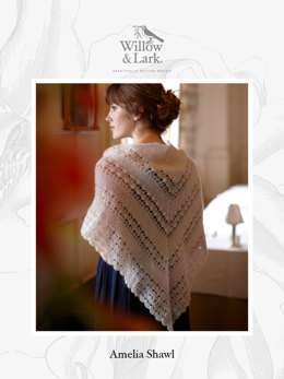 Amelia Shawl in Willow & Lark Plume - Downloadable PDF