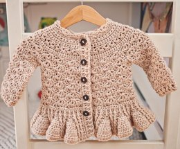 Soft Wool Peplum Cardigan
