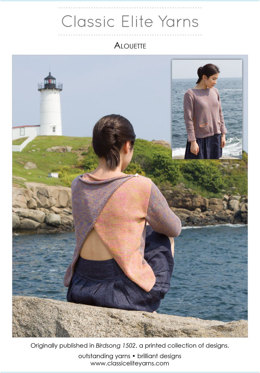 Alouette Pullover in Classic Elite Yarns Sandpiper - Downloadable PDF