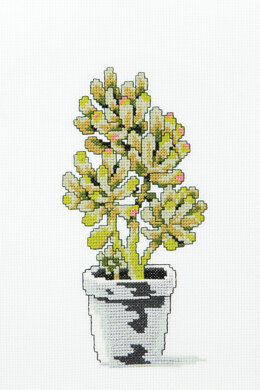 Jelly Bean Succulent in DMC - PAT0100 - Downloadable PDF