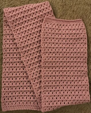 Patterned Scarf in Aran Yarn