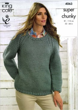 Sweaters in King Cole Big Value Super Chunky - 4063
