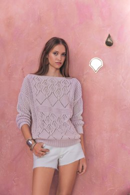 Emilie Sweater in Phildar Phil Cabotine - 098 - Downloadable PDF