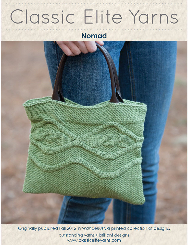 Nomad Bag in Classic Elite Yarns Chesapeake - Downloadable PDF