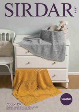 Blankets in Sirdar Cotton DK - 8257 - Downloadable PDF