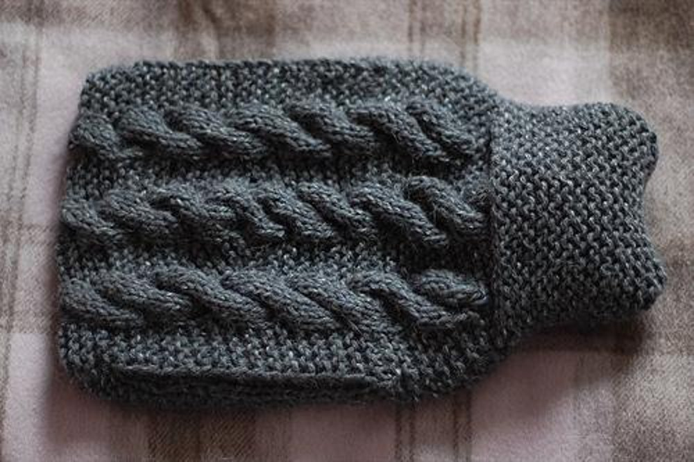 Hot Water Bottle Cover With Pocket Knitting Pattern By Derya