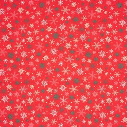 LoveCrafts Christmas Village - Snowflakes Red