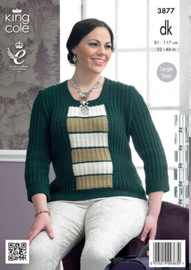 Womens' Tunic and Sweater in King Cole Merino Blend DK - 3877