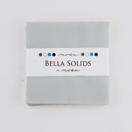 Moda Fabrics Bella Solids 5in Charm - Zen Grey
