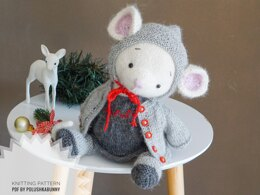 Doll Toy Clothes - Outfit Xmas mouse girl