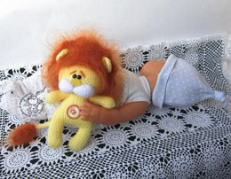 Toy for sleep. Lion  for small babies