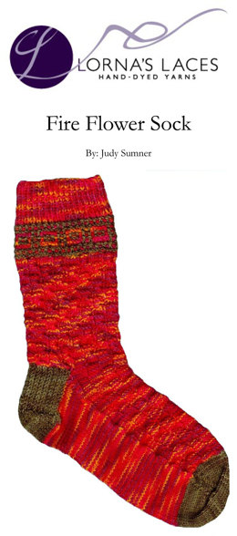Fire Flower Sock in Lorna's Laces Shepherd Sock