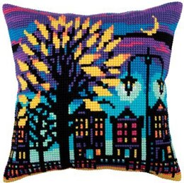 Collection D'Art Twilight Street II Cross Stitch Cushion Kit
