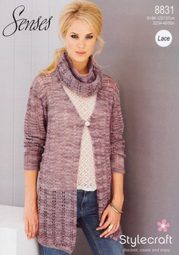 Cardigans and Snoods in Stylecraft Senses Lace - 8831