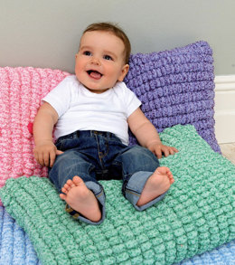 Baby Cushion, Blanket, Playmat & Cot Bumper in Rico Creative Pompon Party - 220 - Leaflet