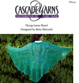 Flying Geese Shawl in Cascade Heritage Paints - FW107