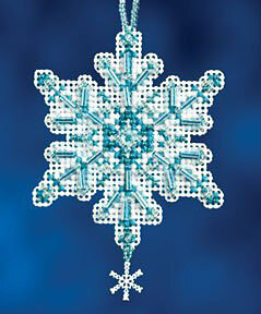 Mill Hill Aqua Crystal Cross Stitch Kit