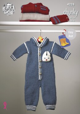 Outdoor Suit, Jacket, Hat & Top in King Cole Chunky - 4228 - Downloadable PDF