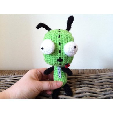 Gir From Invader Zim Dog Suit Alien Plush Doll Crochet Pattern