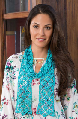 Lacy Crystals Scarf in Aunt Lydia's Iced Bamboo Crochet Thread Size 3 - LC3166