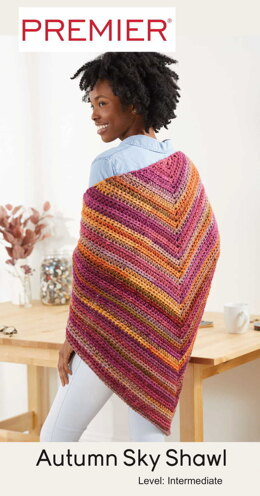 Autumn Sky Shawl in Premier Yarns Colorfusion Chunky - Downloadable PDF