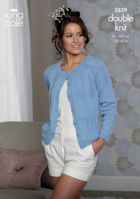 Cardigan and Sweater in King Cole Cottonsoft DK - 3539