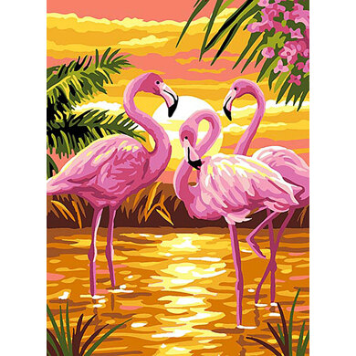 Royal Paris Flamingos Tapestry Canvas