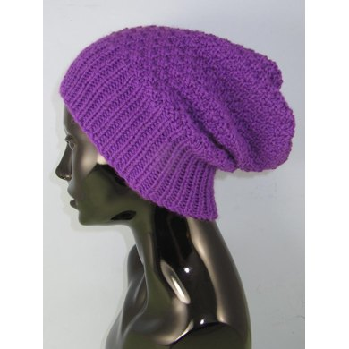 Chunky 2 Stitch Check Slouch Hat