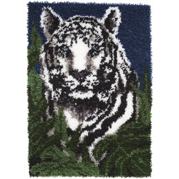 Wonderart White Tiger Latch Hook Rug Kit