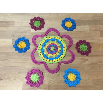 Spring flowers coasters and placemats