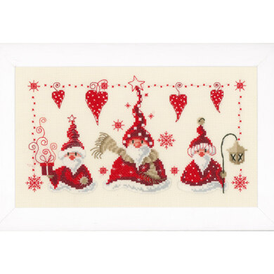 Vervaco Cheerful Santas Cross Stitch Kit