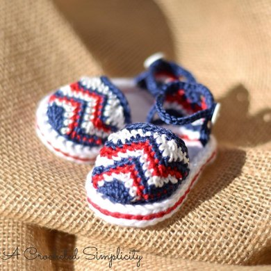 Chasing Chevrons Baby Sandals Crochet Pattern By Jennifer Pionk