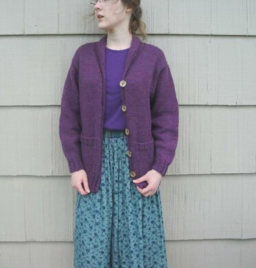 Mulberry Cardigan with Shawl Collar