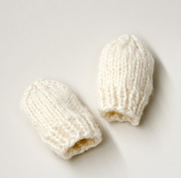 Knit Baby Mitts in Lion Brand Jiffy - L20327