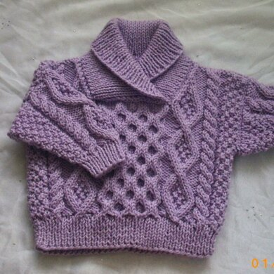 Aisling aran sweater for baby or toddler