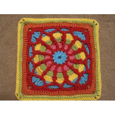 Tangled Web Afghan Block