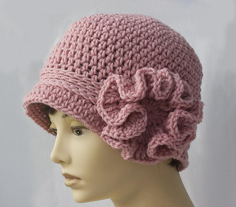 Ruffled Flower Flapper Cloche Crochet Pattern By Judith Stalus