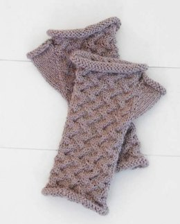 Cabled Mitts in Blue Sky Fibers - T3 - PDF