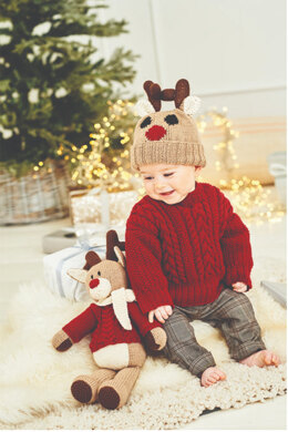 Rudolph the Reindeer Toy, Hat and Sweater in Stylecraft Special DK & Bellissima - 9869 - Downloadable PDF