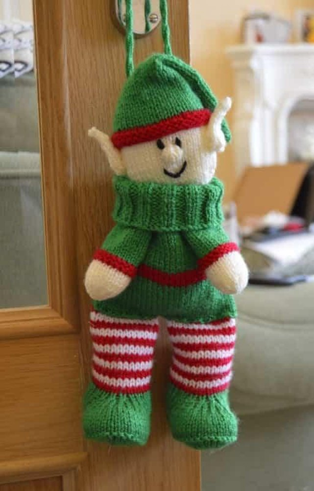 Elf Baggles Gift Bag Knitting pattern by Knitting by Post