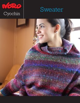 Mock Turtleneck Sweater in Noro Cyochin