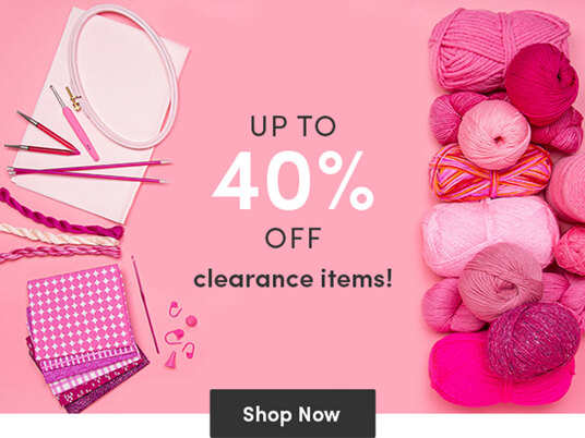 Up to 40 percent off clearance items!