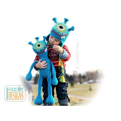 Plutonian Paul Alien Monster Hat And Toy Set Crochet Pdf Pattern