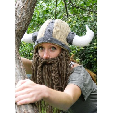 Bearded Viking Helmet Knitting Pattern By Holly Priestley Knitting