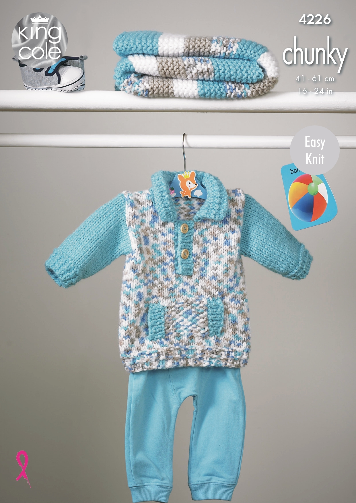 not the finished garments KINGCOLE 4316  BABY DK KNITTING PATTERN  16-26 IN