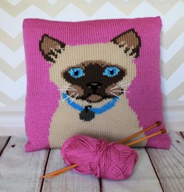 Siamese Cat Portrait Cushion Cover