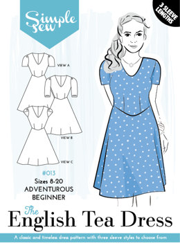 Simple Sew Patterns The English Tea Dress #013 - Sewing Pattern