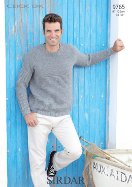 Man's Sweater in Sirdar Click DK - 9765 - Downloadable PDF